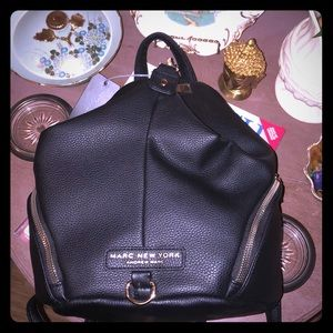 NWT Marc New York black leather backpack